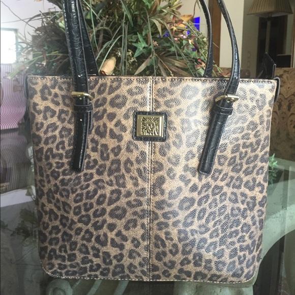 00b0a4f617ce Anne Klein Handbags - Anne Klein leopard print tote